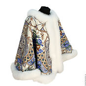 Одежда handmade. Livemaster - original item Poncho from a scarf pavlovoposadskaja