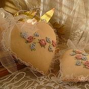"""Для дома и интерьера ручной работы. Ярмарка Мастеров - ручная работа интерьерные сердечки""""Flowers"""". Handmade."""