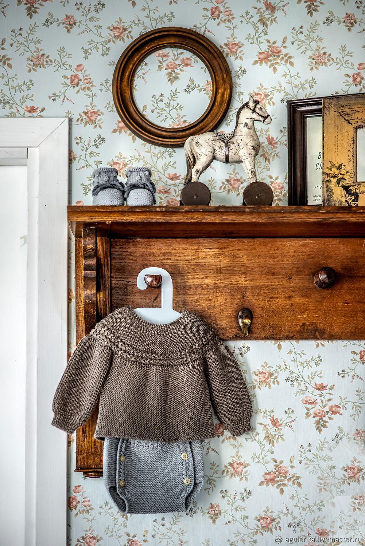 Комплект для младенца в стиле винтаж, хаки, винтажно-голубой, Комплекты одежды, Петрозаводск, Фото №1
