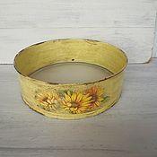 Для дома и интерьера handmade. Livemaster - original item Utensils: a sieve with sunflowers.. Handmade.