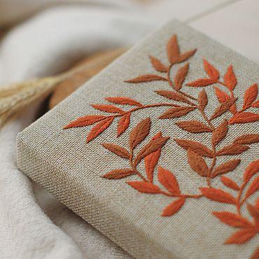 Stationery handmade. Livemaster - original item A5 cloth-covered notebook / Sketchbook / Diary / Embroidery. Handmade.