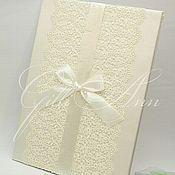 Свадебный салон ручной работы. Ярмарка Мастеров - ручная работа Папка для свидетельства Lace Ivory Leaf. Handmade.