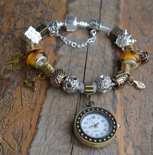 Часы ручной работы. Ярмарка Мастеров - ручная работа. Купить Браслет с часами в европейском стиле, бронза.. Handmade. часы для девушки