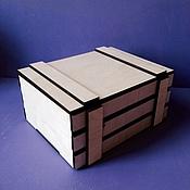 Сувениры и подарки ручной работы. Ярмарка Мастеров - ручная работа Ящик реечный с крышкой. Handmade.