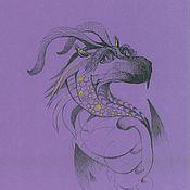 Картины и панно ручной работы. Ярмарка Мастеров - ручная работа Фиолетовый дракон. Handmade.