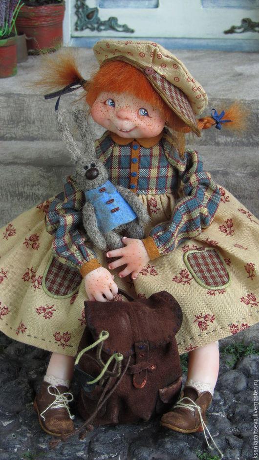 """Коллекционные куклы ручной работы. Ярмарка Мастеров - ручная работа. Купить """"Фулиганка Тува"""". Handmade. Рыжий, малышка, косички"""