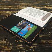 Кошельки ручной работы. Ярмарка Мастеров - ручная работа Кожаная обложка на документов. Handmade.