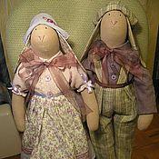 Куклы и игрушки ручной работы. Ярмарка Мастеров - ручная работа пара кроликов для Оксаны. Handmade.