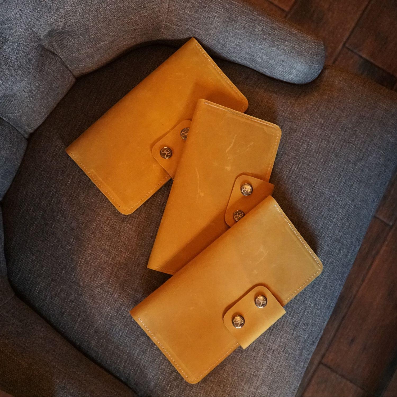 Тревел унисекс в оттенке охра (горчичный), Портмоне, Самара,  Фото №1