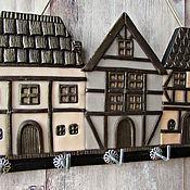 Для дома и интерьера handmade. Livemaster - original item Housekeeper Alpine Village. The housekeeper wall. The housekeeper with houses.. Handmade.
