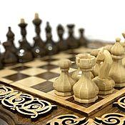 Активный отдых и развлечения handmade. Livemaster - original item Art.060: Carved chess pieces Royal
