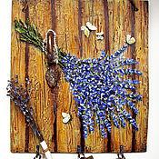Для дома и интерьера handmade. Livemaster - original item Wall key holders: key holder hanger OLD GATE. Lavender`s blue. Handmade.