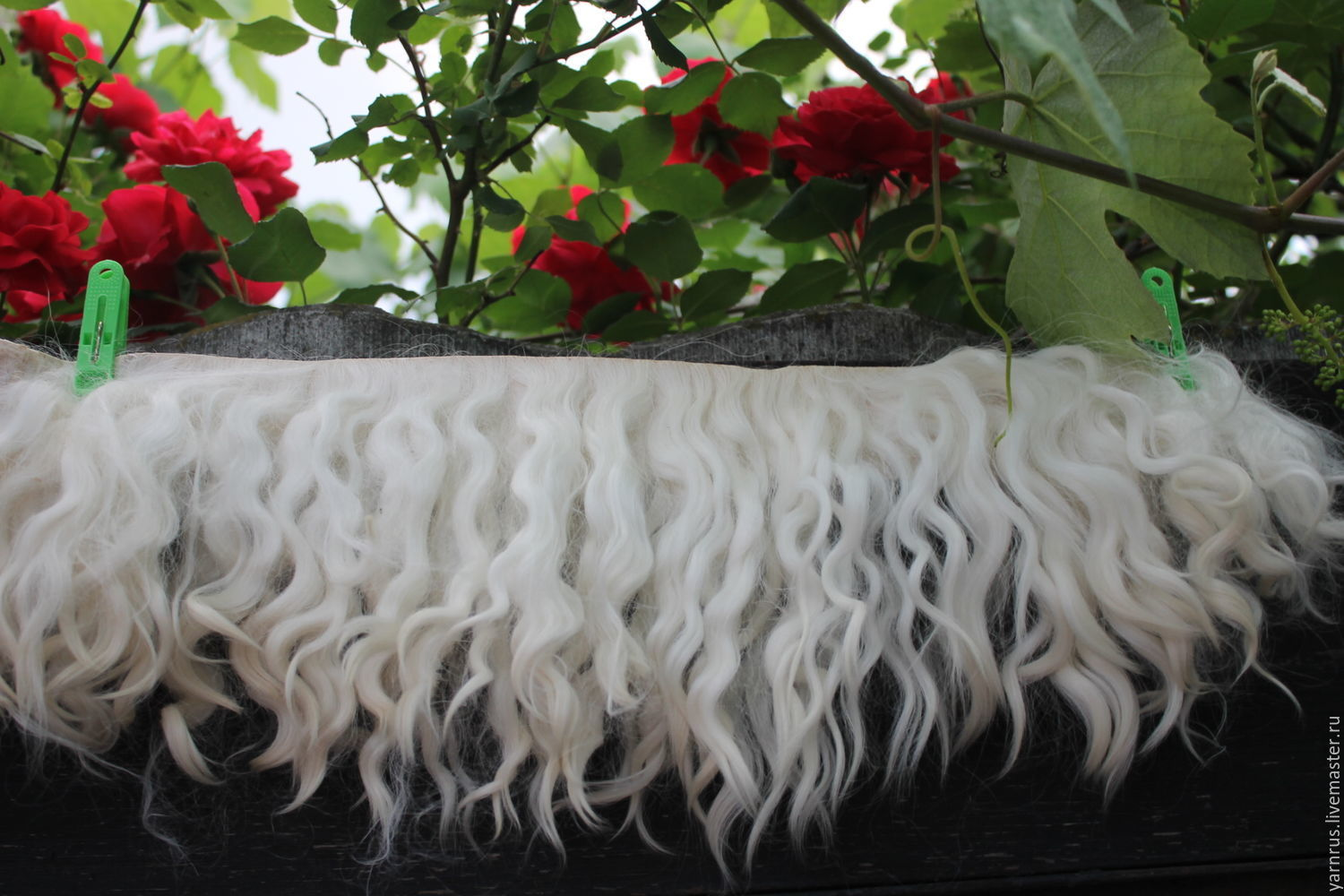 The skin of the Angora goat curls for doll hair pieces for painted skin, Doll hair, Cherkessk,  Фото №1