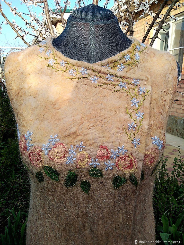 Felted vest 'the Garden of my dreams', Vests, Yeisk,  Фото №1