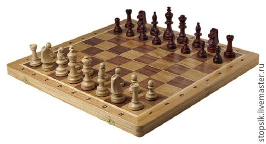 Настольные игры ручной работы. Ярмарка Мастеров - ручная работа. Купить Шахматы Турнир №6 (дуб,36641). Handmade. Разноцветный
