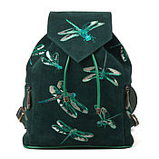 Сумки и аксессуары handmade. Livemaster - original item Women`s suede backpack with embroidered