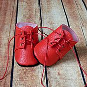 Куклы и игрушки ручной работы. Ярмарка Мастеров - ручная работа Обувь для кукол. Ботинки для кукол на шнурках.. Handmade.