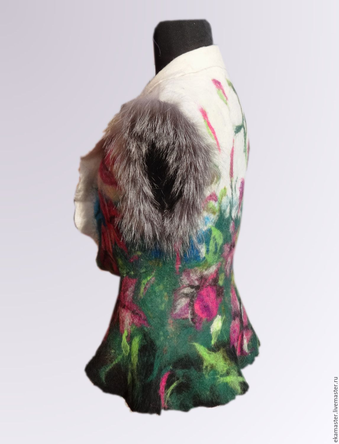 Felted vest from dog's wool PdvTmX1