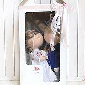 Материалы для кукол и игрушек ручной работы. Ярмарка Мастеров - ручная работа Коробка для кукол большая- Крафт и белая  36/20/16. Handmade.