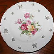 Винтаж handmade. Livemaster - original item Beautiful, vintage,porcelain, dish, decorated with roses, Germany. Handmade.