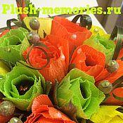 Цветы и флористика ручной работы. Ярмарка Мастеров - ручная работа Корзинка с розами из конфет. Handmade.