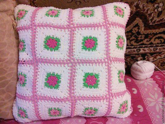 Текстиль, ковры ручной работы. Ярмарка Мастеров - ручная работа. Купить Наволочка на подушку. Handmade. Розовый, теплый, чехол для подушки