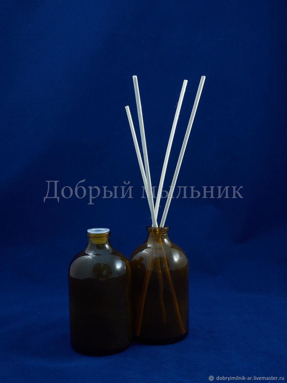 Флакон диффузор 100 мл стекло коричневый с укупоркой, Флаконы, Москва,  Фото №1