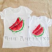 Одежда handmade. Livemaster - original item T-shirt  hand painted watermelon. Handmade.