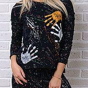 Одежда ручной работы. Ярмарка Мастеров - ручная работа Стильный гламурный спортивный костюм 8843. Handmade.