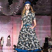 """Одежда ручной работы. Ярмарка Мастеров - ручная работа Платье в стиле 50-х """"Лист резной"""". Handmade."""