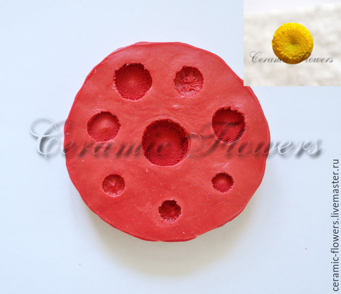 Silicone mold (Weiner) midway daisies 8 1, Molds for making flowers, Rostov-on-Don,  Фото №1