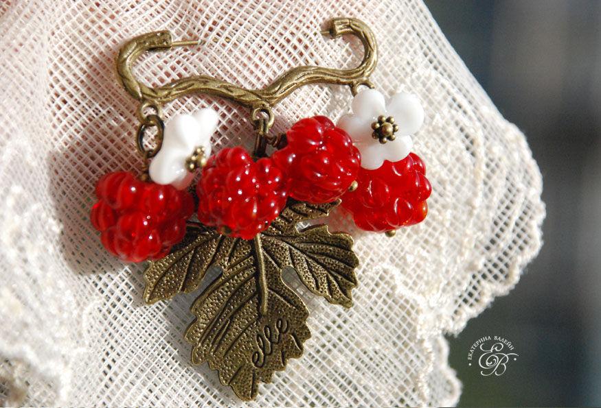 'Crimson' brooch, Brooches, St. Petersburg,  Фото №1