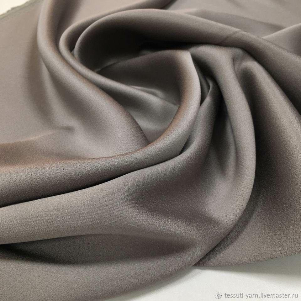Итальянская ткань Кади светлое серебро (серый) арт. 10-6209, Ткани, Казань,  Фото №1