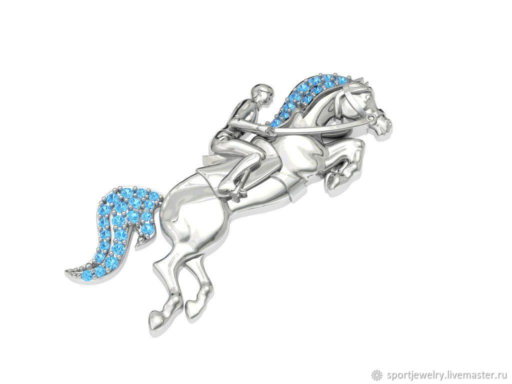 Брошь для спортсменов, конные виды спорта, Брошь-булавка, Москва,  Фото №1