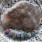 handmade. Livemaster - original item Necklace lampwork beads Caramella. Handmade.