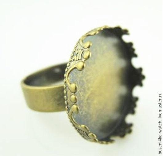 Для украшений ручной работы. Ярмарка Мастеров - ручная работа. Купить Основа для кольца Корона 20мм, античная бронза. Handmade.