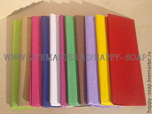 Упаковка ручной работы. Ярмарка Мастеров - ручная работа. Купить Бумага тишью, 12 цветов.. Handmade. Тишью, бумага для упаковки