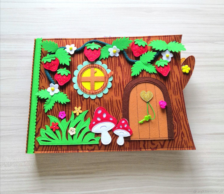 Домик феи, развивающая книжка из фетра, Кукольные домики, Москва,  Фото №1