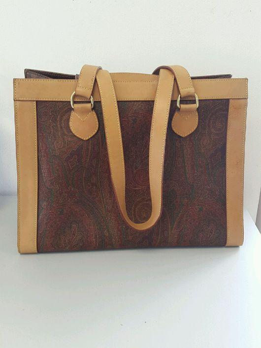 Винтажные сумки и кошельки. Ярмарка Мастеров - ручная работа. Купить сумка Etro пейсли винтаж оригинал большая. Handmade. Этро