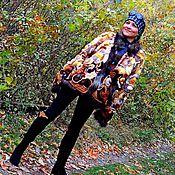 Одежда ручной работы. Ярмарка Мастеров - ручная работа Шубка в технике фриформ  (№214). Handmade.