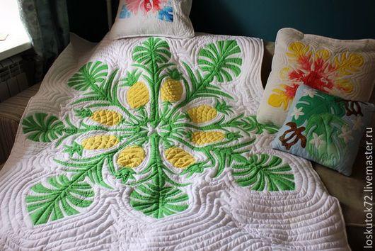Текстиль, ковры ручной работы. Ярмарка Мастеров - ручная работа. Купить Гавайский квилт. Handmade. Комбинированный, гавайи, бязь