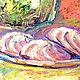 """Картины цветов ручной работы. Заказать Картина """"Пионы и Чай с Зефиром"""" масло, холст. ЯРКИЕ КАРТИНЫ Наталии Ширяевой. Ярмарка Мастеров."""