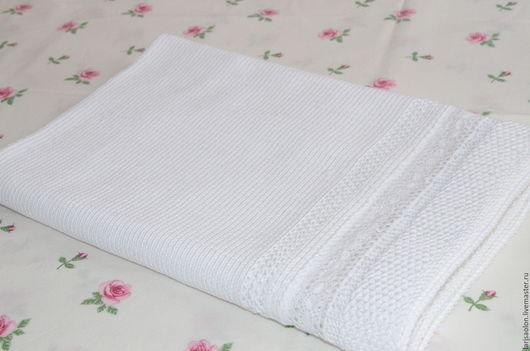 Текстиль, ковры ручной работы. Ярмарка Мастеров - ручная работа. Купить Детский плед с кружевом. Handmade. Белый, Крестины, для новорожденных