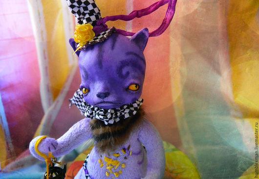 Куклы и игрушки ручной работы. Ярмарка Мастеров - ручная работа. Купить кот Ришеч. Handmade. Подвижная игрушка, котик, микрофибра