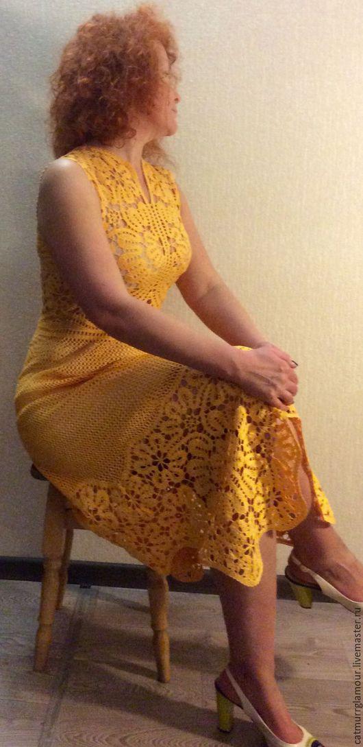 Платья ручной работы. Ярмарка Мастеров - ручная работа. Купить ГАЛАтея. Handmade. Желтый, платье коктейльное, креативная одежда