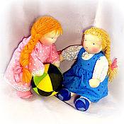 Куклы и игрушки ручной работы. Ярмарка Мастеров - ручная работа вальдорфская кукла-девочка    20-25 см. Handmade.