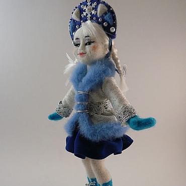 Dolls & toys handmade. Livemaster - original item Felt doll the Snow Maiden. Handmade.