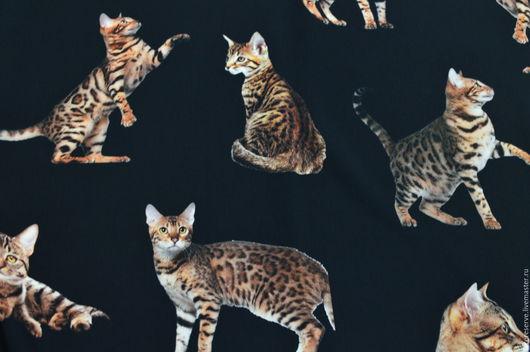 """Шитье ручной работы. Ярмарка Мастеров - ручная работа. Купить Плательная ткань Dolce Gabbana """"Кошки"""" 2 цвета. Handmade."""