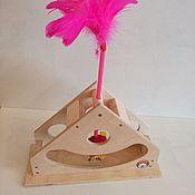 Для домашних животных, ручной работы. Ярмарка Мастеров - ручная работа Качалка-дразнилка для кошек. Handmade.