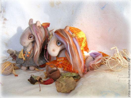 Мишки Тедди ручной работы. Ярмарка Мастеров - ручная работа. Купить Осенние лошадки. Игрушки. Handmade. Рыжий, лошадь игрушка